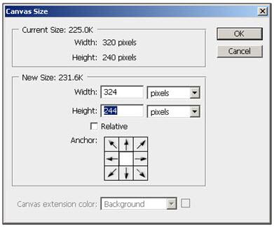 Ukuran Layer 1 diperbesar menjadi 324 px X 244 px