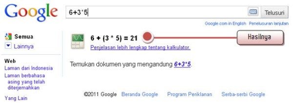 Hasil Perhitungan