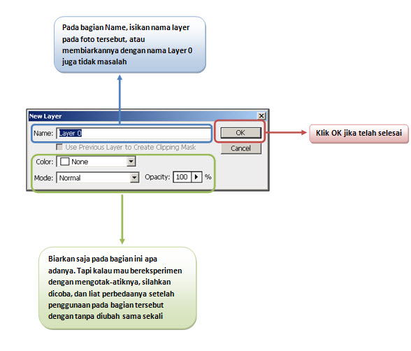 Menjadikan layer Background menjadi layer biasa