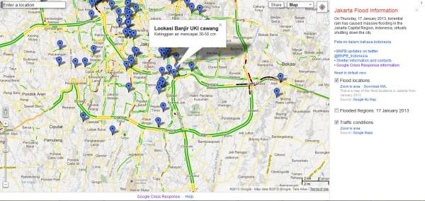 Informasi Lokasi Banjir dan Ketinggian Air-nya