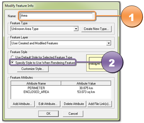 Gambar 4. Jendela Dialog Modify Feature Info