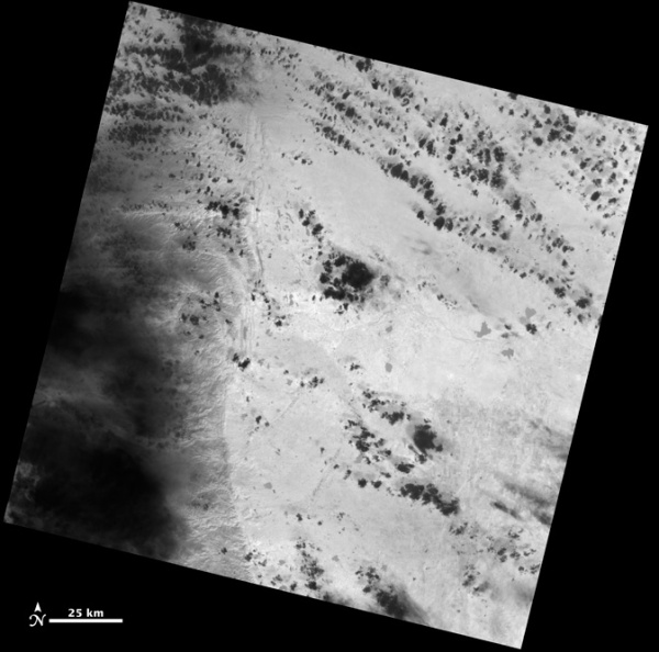 Gambar 2. Kenampakan Citra Pertama dari Satelit Landsat 8 Diambil Menggunakan Sensor TIRS (sumber : http://www.nasa.gov/mission_pages/landsat/news/first-images-feature.html)