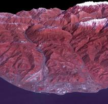 3D View Wilayah Arena Sochi Olympic Park Yang Direkam Menggunakan Satelit Terra – Credit: NASA/GSFC/METI/ERSDAC/JAROS, and U.S./Japan ASTER Science Team
